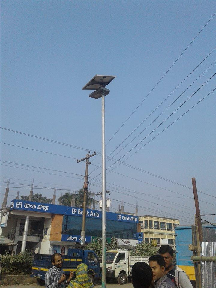 Solar Street Light installation Mohadevpur upozila in Naogaon