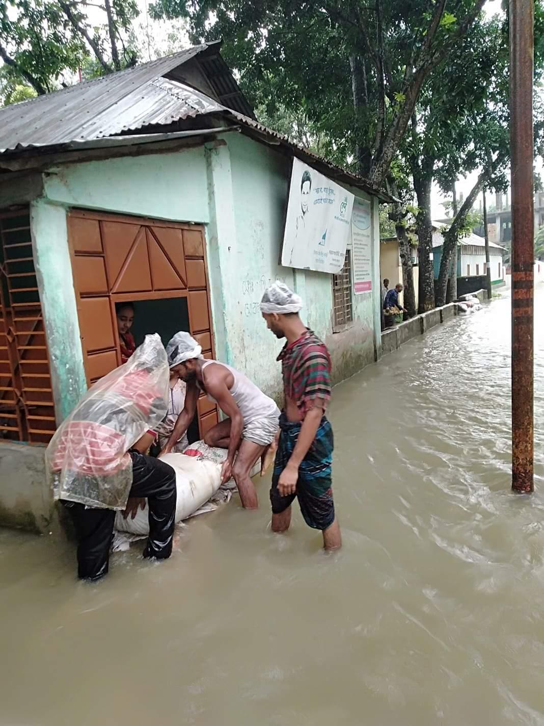 Relief fund distribution in Bokshigonj